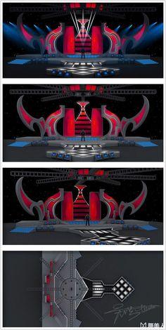【新提醒】没事练练手 - 作品 - 舞美... Tv Set Design, Stage Set Design, Logo Design, Virtual Studio, Concert Stage, Stage Show, Staging, Event Production, Design Inspiration