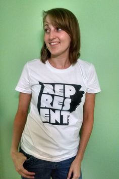 Represent Arkansas Tee - Women's by RhinodilloDesigns on Etsy