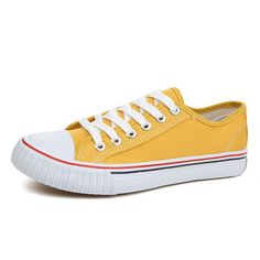 US Size 5-13 Casual Lace Up Colorful Round Toe Athletic Canvas Shoes
