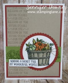 stampin up basket of wishes - Google Search
