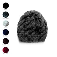 Knitted in a soft yarn this slouchy beanie has several cable knits...  http://notonbyraquel.bigcartel.com/product/cable-knit-beanie