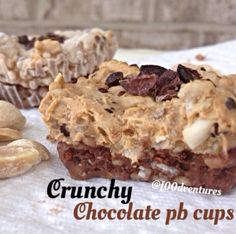 Ripped Recipes - Frozen Crunchy Chocolate Pb Cups  - These chocolate pb cups have a little twist! they have cooked quinoa added to them to not only add some extra protein and fiber but also some great texture!