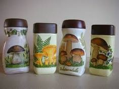 Resultado de imagen para butelka decoupage Decoupage Glass, Decoupage Art, Wine Bottle Crafts, Bottle Art, Starbucks Bottles, Painted Jars, Pots, Altered Bottles, Vintage Box