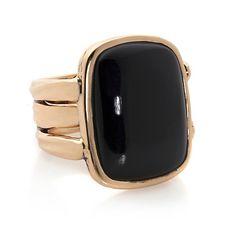 Studio Barse Bronze Black Onyx Statement Ring