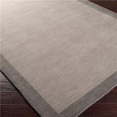 City Hues Solid Bordered Rug- 4 Colors