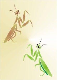 stencils of praying mantis  | Praying Mantis Stencil