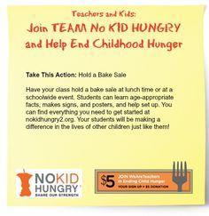 Teachers, Host a bake sale and help to end childhood hunger in America! #weareteachers
