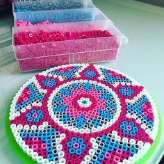 Mandala perler beads by  perlermom