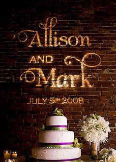 I like the names shined behind the cake instead of on the floor