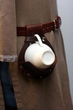 Steampunk Leather Teacup Holster by Versalla on Etsy