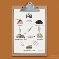 Learn about sedimentary, igneous, and metamorphic types of rocks with this delicious rock cycle made of chocolate rocks. Includes a printable rock cycle diagram perfect for classrooms and homeschool too. Science Lessons, Science Experiments, Science Notes, Science Art, Science Activities, Science Projects, Life Science, Science Penguin, Fair Projects