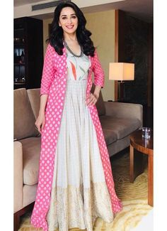 Salwar Kameez Images: New Arrival Stock of Designer Salwar Suits Indian Gowns, Indian Wear, Indian Outfits, Gown With Jacket, Silk Jacket, Churidar Designs, Donia, Anarkali Dress, India Fashion