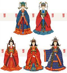 hanbok illustration Jeokui by Glimja Korean Traditional Dress, Traditional Fashion, Traditional Dresses, Korean Hanbok, Korean Art, Hanfu, Historical Clothing, Fashion History, Costume Design
