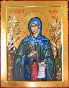 Theodora of Sihla by Elena Cerasela Ciuca Gifts For Sailors, Greek Gifts, Happy Belated Birthday, Orthodox Christianity, Art Icon, Orthodox Icons, Roman Catholic, Saints, Painting