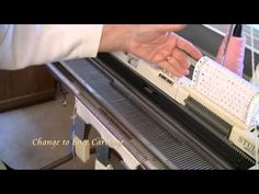 ▶ Lattice Lace on Silver Reed Knitting Machine by Diana Sullivan - YouTube