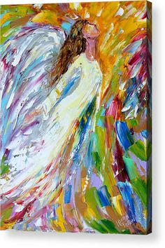 Angel Rising Acrylic Print by Karen Tarlton.  All acrylic prints are professionally printed, packaged, and shipped within 3 - 4 business days and delivered ready-to-hang on your wall. Choose from multiple sizes and mounting options.