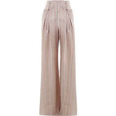 Zimmermann Painted Heart Lace Up Pant ($695) ❤ liked on Polyvore featuring pants, stripe, high-waisted pants, high-waisted wide leg pants, high-waist trousers, wide-leg pants and high waisted trousers