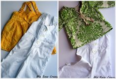 The Girl Creative: Upcycled Capri Overalls