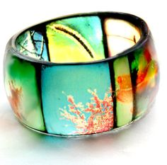 Vibrant, 2011 TTV Viewfinder Hand Cast Resin Bangle Bracelet by Bethtastic Resin Jewelry Making, Resin Jewellery, Hand Jewelry, Bling Jewelry, Jewlery, Jewelry Box, Jewelry Bracelets, Modern Jewelry, Unique Jewelry
