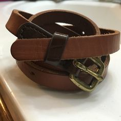 "HP J. Crew Leather Belt Genuine leather J. Crew belt - size small. 36"" Long J. Crew Accessories Belts"