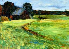 Wassily Kandinsky, Barn with bangs, 1903