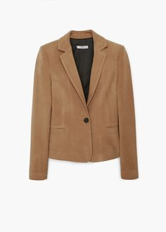 Elbow-patch cotton blazer
