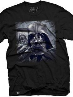"""Men's """"Vader Selfie"""" Vintage Tee by Fifty5 Clothing (Black)"""