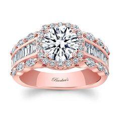 Barkev's Rose Gold Engagement Ring - 8059LP