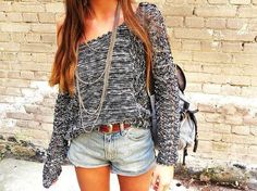 Over-the-shoulder top and shorts