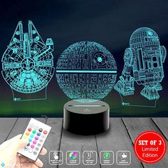 3 Pattern 16 Colors Star Wars Night Light Star Wars Lamp Birthday Gifts for Star Wars Fans Star Wars Night Light, Star Wars Lamp, Bedroom Decor Lights, Father's Day Celebration, Walmart, 3d Light, 3d Star, Star Wars Gifts, For Stars