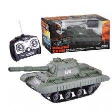Боевой танк 9669 р/у, на аккумуляторных батарейках, з/у, с пульками, в коробке