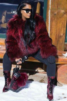 club Wood Working Mode Site - My Life ceaft Pinliy Fur Fashion, Fashion Killa, Fashion Looks, Fashion Outfits, Womens Fashion, Fashion Trends, Fall Winter Outfits, Autumn Winter Fashion, Looks Black