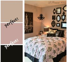Now this is the most darling, charming room evan! Love the dusty rose or mauvey pink for the teen in your home. She can pair it with black accents and this room will be gorgeous!