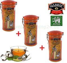 3 x Mabroc Schwarzer Tee Yala Night Metalldose 600g. (33,33€ pro 1kg)