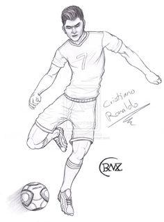 Cristiano Ronaldo Da Colorare Idea Di Immagine Del Giocatore