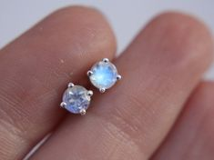 These faceted rainbow moonstones are so much fun to wear - they glint and glitter in the light with beautiful flashes of blue. A wonderful gift for Moonstone Earrings, Sterling Silver Earrings Studs, Stud Earrings, 14 Carat, Jewelery, Jewellery Box, Bridesmaid Jewelry Sets, Argent Sterling, Bridal Jewelry
