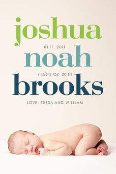 custom photo birth announcement - bold. $16.00, via Etsy.