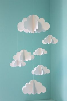 DIY Cloud Mobile in the Nursery