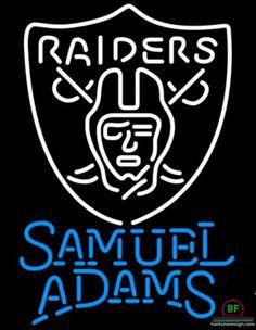 Samuel Adams Oakland Raiders Neon Sign NFL Teams Neon Light