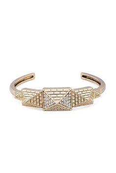 Pyramid Pave Bracelet
