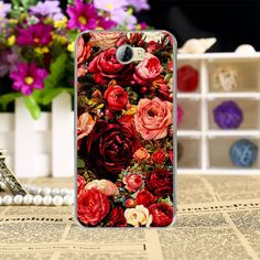 Painting Phone Cases for Huawei Y5 II Y5 2 5.0 inch Phone Case Cover Shell housing Rose Case Peony Flowers Background Cover