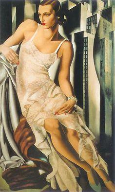 great art dec by tamara de lempicka.love her work.look great in living room area