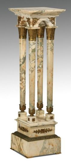 Lot: 19th c.Italian bronze mounted marble pedestal, Lot Number: 0624, Starting Bid: $500, Auctioneer: Great Gatsby's Auction Gallery, Inc., Auction: Day 2 - The Estate of James W. Mitchell, Date: October 25th, 2015