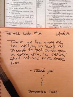 Prayer Note #18