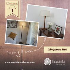 Las lámparas de Laquinta siempre son una buena opción ¡Mirá las Lámparas Net! Podés elegir si la querés de pie, o de mesa ¡Incluso podés combinar ambas en un mismo ambiente de tu casa!