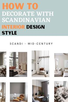 Transform your house into a Scandinavian style easily with Upscale Interiors. Scandinavian Interior Design Style for Nordic design style lovers!