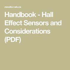 Handbook - Hall Effect Sensors and Considerations (PDF)