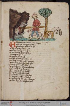 Cod. Pal. germ. 794: [Ulrich] Boner: Edelstein (Schwaben (Oberrhein? [Upper Rhine?]), um 1410/1420), Fol 40r