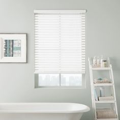 "Looking for an affordable window covering for a bathroom window? 2"" Designer Macro Aluminum Blinds from Selectblinds.com are just what you are looking for! #miniblinds #aluminumblinds #metalblinds #windowblinds #selectblinds #bathroomwindow #bathroom Bathroom Window Treatments, Bathroom Blinds, Bathroom Windows, Mini Blinds, Blinds For Windows, Aluminum Blinds, Window Coverings, Vibrant Colors, Home Improvement"