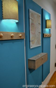 Finished-wall-panels from Engineer your Space...consider something like this to hide electrical cords behind. Sweet!